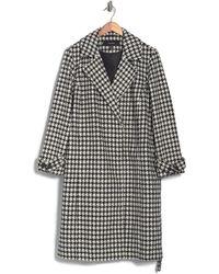 Vero Moda Maria Long Houndstooth Jacket - Black