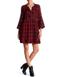 William Rast - Atalia Plaid Raw Edge Dress - Lyst
