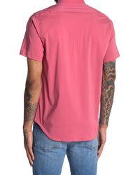 JEFF Solid Regular Fit Sport Shirt - Pink