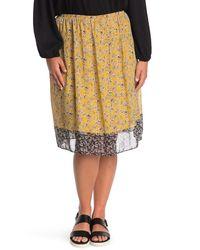 Max Studio Gathered Waist Georgette Skirt - Multicolor