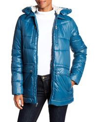 Kenneth Cole - Hodded Down Jacket - Lyst