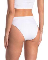 Becca High Waist Bikini Bottoms - White