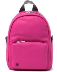 State Bags Hart Convertible Leather Backpack - Pink