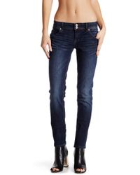 Hudson Jeans Collin Flap Skinny Jean - Blue
