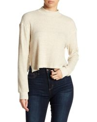 Project Social T - Mock Neck Thermal Knit Sweater - Lyst