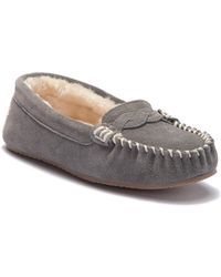Minnetonka - Brittany Braided Faux Fur Lined Moccasin - Lyst