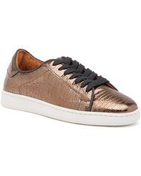 Frye - Alexi Low Lace-up Lizard Embossed Leather Sneaker - Lyst