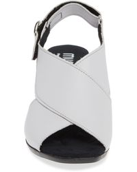 Munro Laine Block Heel Sandal - White