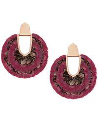 Kendra Scott Diane Feather Fan Earrings - Multicolour