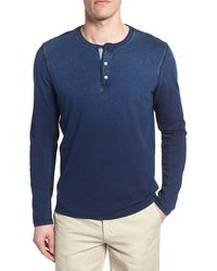 AG Jeans Clyde Long Sleeve Slim Fit Henley - Blue