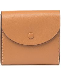 Halogen - Leather Curve Flap French Wallet - Lyst