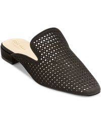 Cole Haan Paula Perforated Loafer Mule - Black