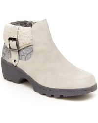Jambu Haven Water-resistant Faux Shearling Trim Ankle Boot - White