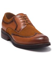 English Laundry Ashbourne Leather & Suede Wingtip Derby - Brown
