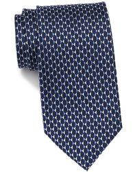MICHAEL Michael Kors Mirrored Triangles Silk Tie - Blue