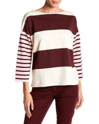 J.Crew | Oversized Combo Stripe Pullover | Lyst