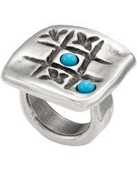 Uno De 50 - Te Toca Engraved Tic-tac-toe Ring - Lyst
