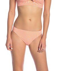 Nanette Lepore - Capri Gingham Chamer Bikini Bottom - Lyst
