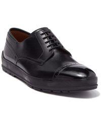 Bally Reigan Leather Cap Toe Derby - Black