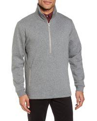 Calibrate - Quarter Zip Fleece Pullover - Lyst