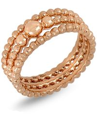 Bony Levy - 14k Rose Gold Triple Row Beaded Ring - Lyst