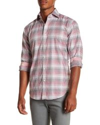 Thomas Dean - Plaid Long Sleeve Sport Fit Shirt - Lyst