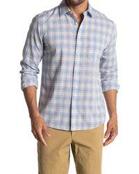 Faherty Brand Everyday Plaid Slim Fit Shirt - Blue