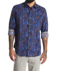 Robert Graham Tatum Long Sleeve Woven Shirt - Blue