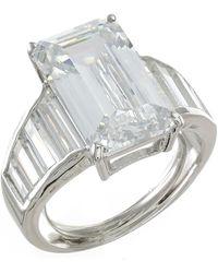 Kenneth Jay Lane - Prong Set Asscher Cut Cz Engagement Ring - Lyst