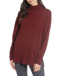 Chelsea28 Funnel Neck Sweater - Red