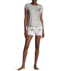 Hue Palm Isla Boxer 2-piece Set - Gray