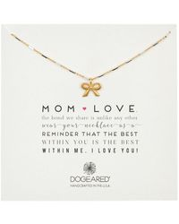 Dogeared Mom Love Classic Bow Pendant Necklace - Metallic