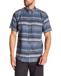 Ezekiel - Driftwood Stripe Short Sleeve Regular Fit Shirt - Lyst