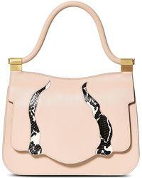 Thale Blanc - Saffiano Snakeskin Leather Audrey Handbag - Lyst