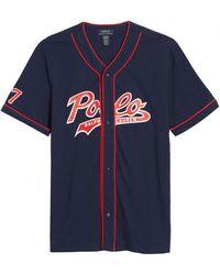 Polo Ralph Lauren Short Sleeve Baseball Pyjama Top - Blue