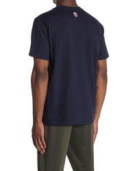 K-swiss College Logo Crew Neck T-shirt - Blue