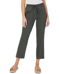 Kut From The Kloth Drawcord Waist Crop Pants - Green