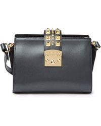 Valentino By Mario Valentino Kiki Palmellato Studded Leather Crossbody Bag - Black