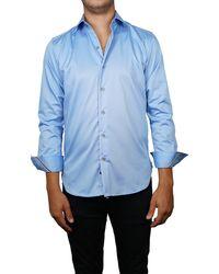 Zanella Short Sleeve Sport Shirt - Blue