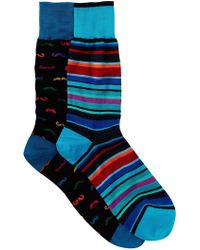 Bugatchi - Assorted Printed Socks - Pack Of 2 - Lyst