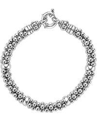 Lagos Sterling Silver Caviar Rope Bracelet - Metallic