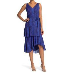 Sam Edelman Tiered Maxi Dress - Blue