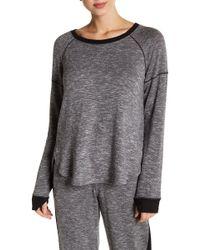 Kensie - Contrast Trim Long Sleeve Pullover - Lyst