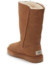UGG Klea Genuine Lamb Fur Tall Boot - Brown