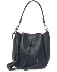 Luisa Vannini Leather Top Handle Crossbody Bag In Blu At Nordstrom Rack - Blue