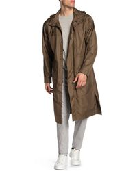 Tommy Hilfiger Lightweight Unlined Rain Trench Coat - Green