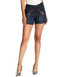 Love Moschino - Guitar Embroidered Shorts - Lyst