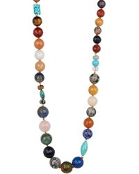 Chan Luu - Sterling Silver Semi Precious Stone Beaded Necklace - Lyst