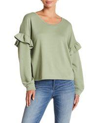 Lucky Brand - Ruffle Sleeve Sweater - Lyst