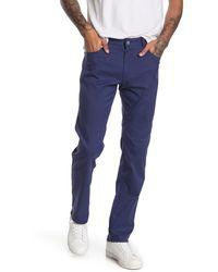 Peter Millar Raleigh Glen Check 5 Pocket Pants - Blue